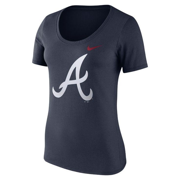 Nike Logo Scoop (MLB Braves) Women's T-Shirt Size