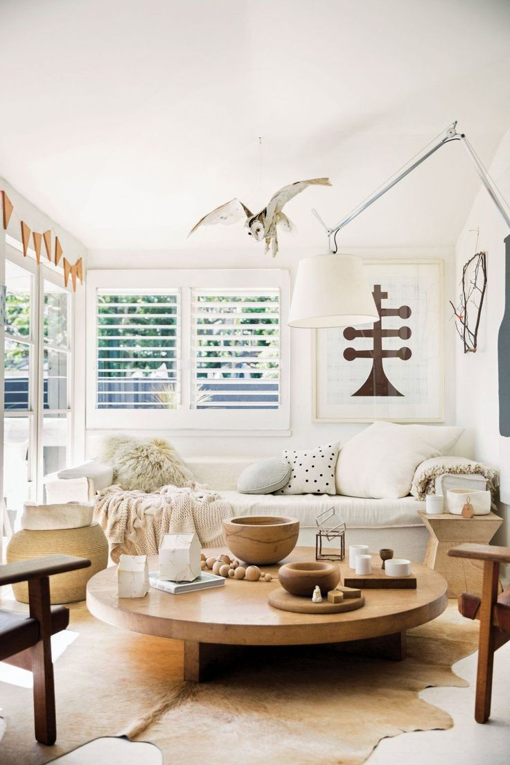 amazing styling with pale wood and off-whites