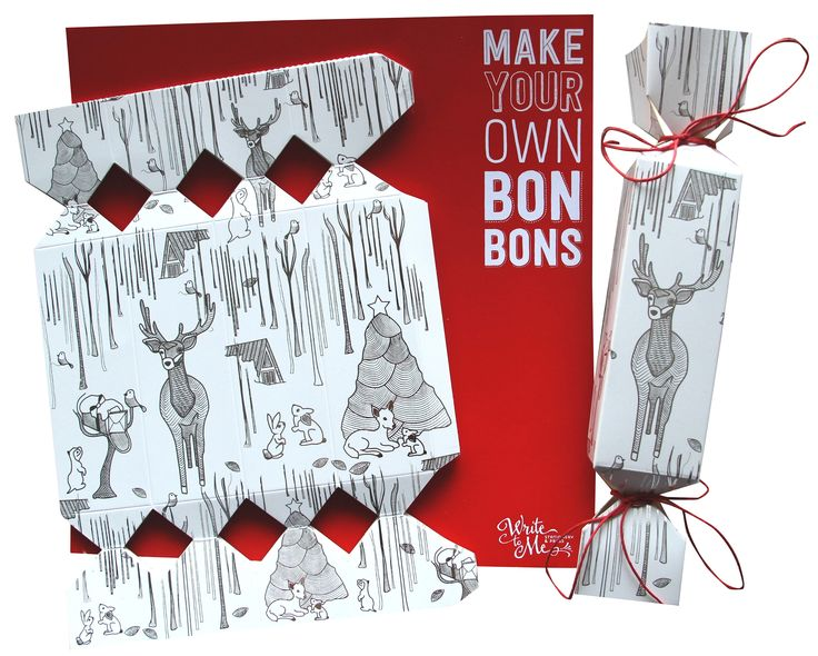 Things are always nicer handmade DIY bon bon/cracker kit | hardtofind. Christmas in #htfstyle