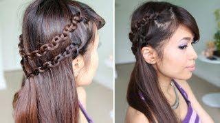 How to: Snake Braid Headband Hairstyle for Medium Long Hair Tutorial, via YouTube. @I am... Bana You've got me hooked woman!