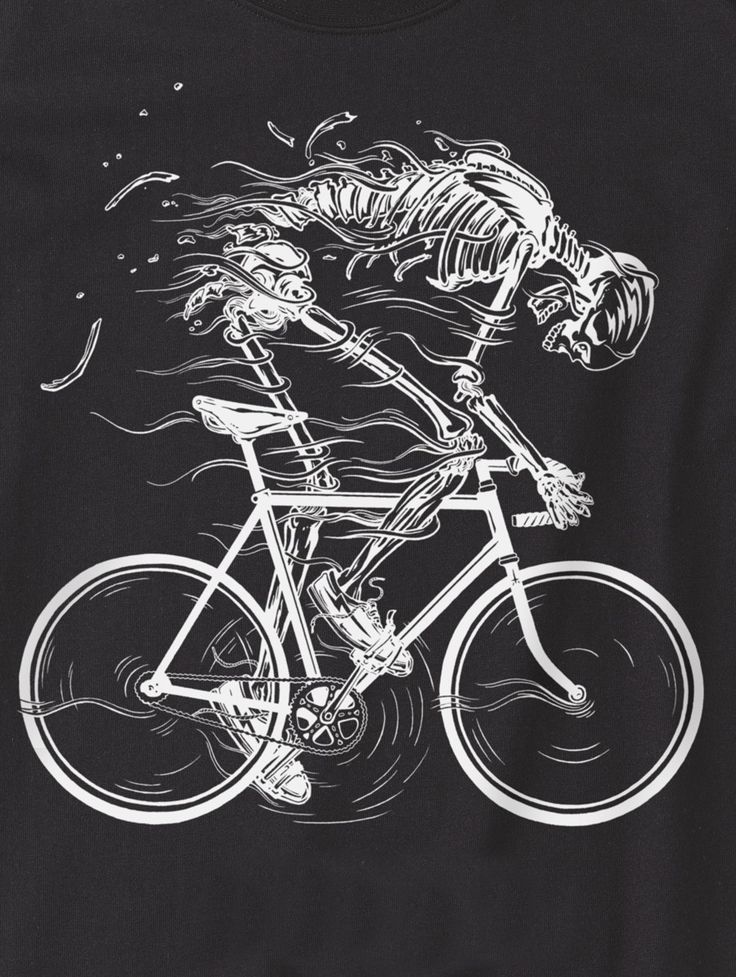 As you pedal you begin to sweat. First you shed the fat. Then you shed the skin. All that's left is a skeleton. only your soul remains.
