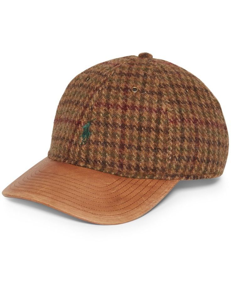 Polo Ralph Lauren Tweed Leather Bill Baseball Cap | Is there a more cute baseball hat for winter? Nope.