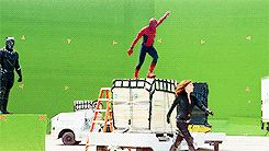 """Baby Spidey trying to show Momma Spidey his skills: """"Mom did you see that? Mom? Mom!"""