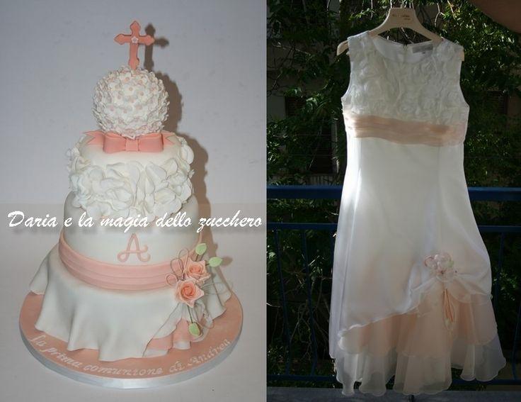 #Andrea's first communion cake inspired by his dress # Torta prima comunione ispirata al vestito #Torta prima comunione  #First communion cake #Torta comunione #Cake inspired dress