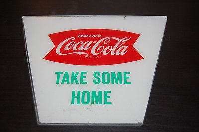 Vintage 1960 Coca Cola Hanging Lantern Hard Plastic signs Coca Cola Fish Tail X2