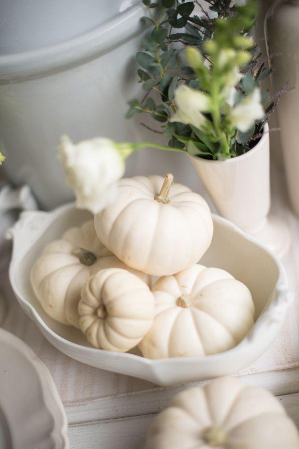 white pumpkins - photo by Studio EMP http://ruffledblog.com/simply-white-wedding-inspiration