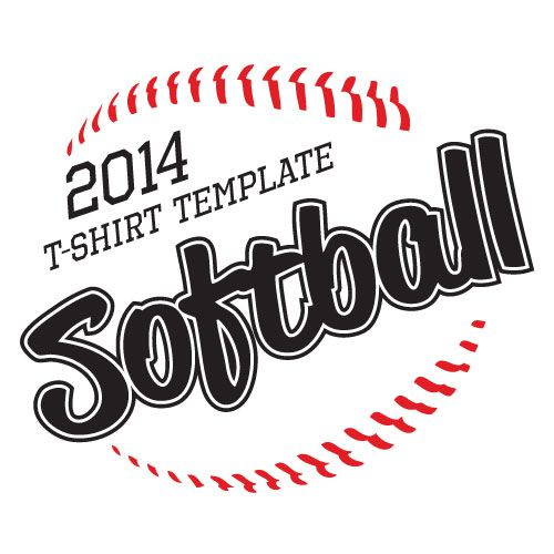 2014 softball t shirt vector illustration softball laces softball lettering and softball t shirt design download vector instantly - Softball Jersey Design Ideas