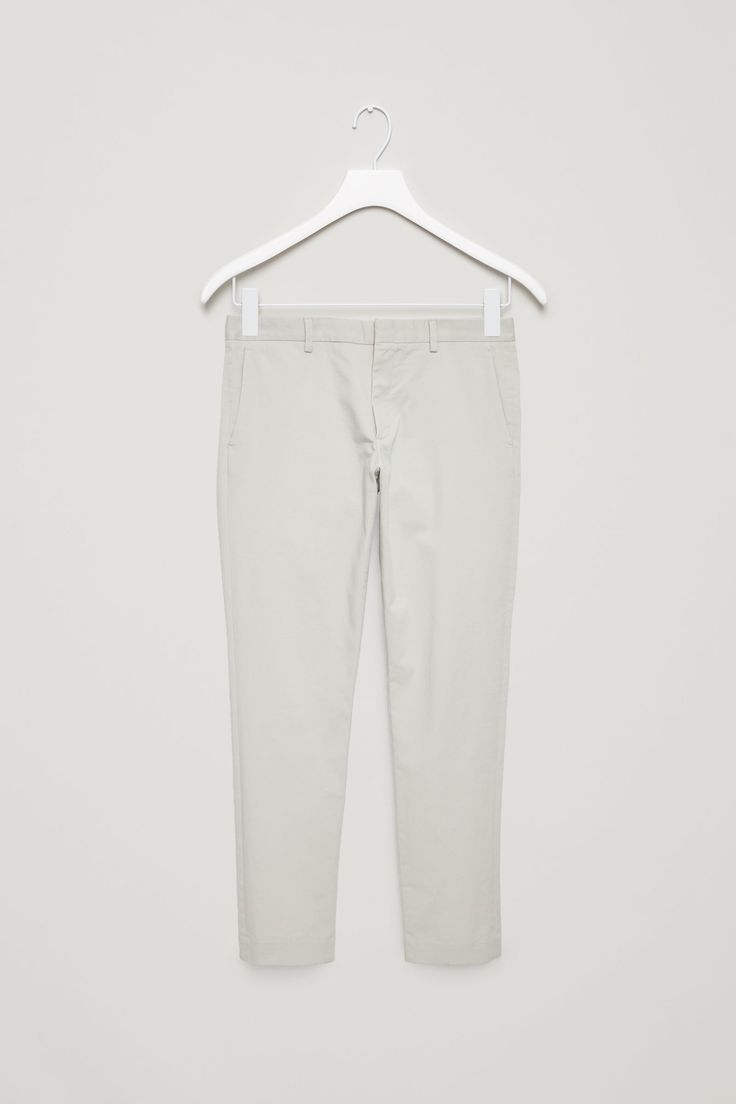 COS image 11 of Cotton stretch chinos in Light Grey