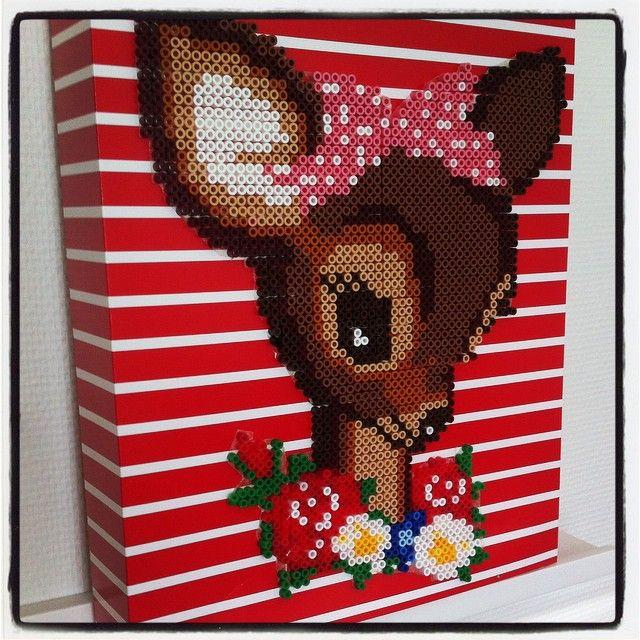 Bambi Deer perler art by mimmipigg64