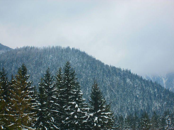Zimne mroźne góry
