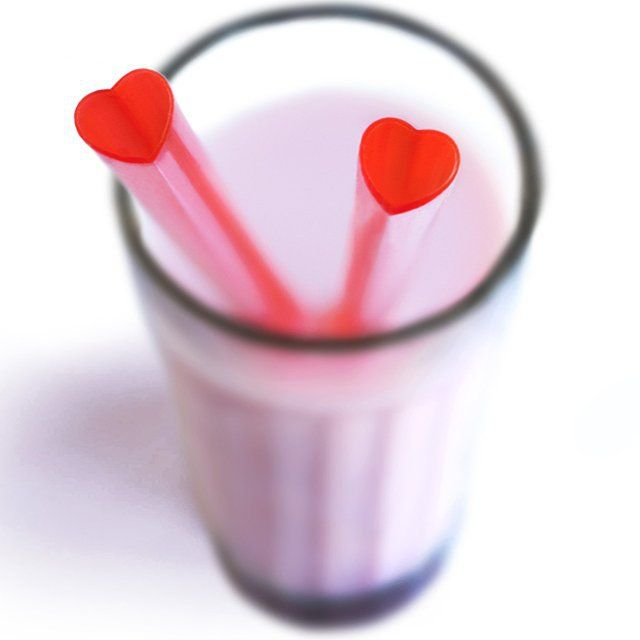 Heart Straws for Valentine's Day :) #valentinesday #hearts #drinks