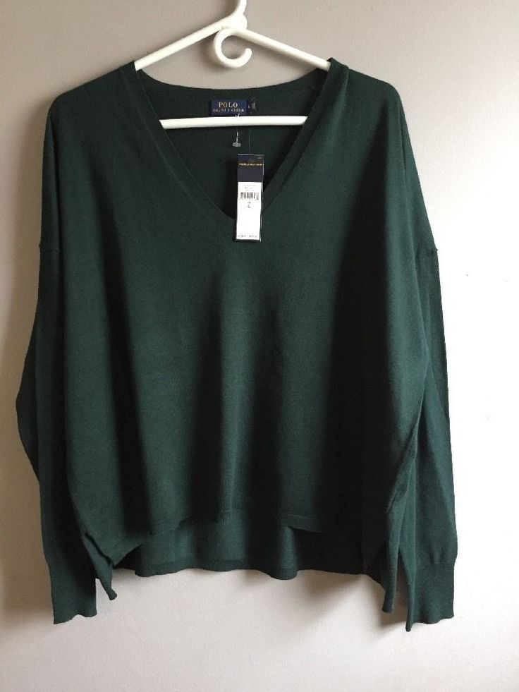 POLO Ralph Lauran Thin Knit SWEATER green Size:Large  Viscose &cotton | Clothing, Shoes & Accessories, Men's Clothing, Sweaters | eBay!