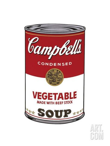 Campbell's Soup I: Vegetable, c.1968 Giclee Print by Andy Warhol at Art.com