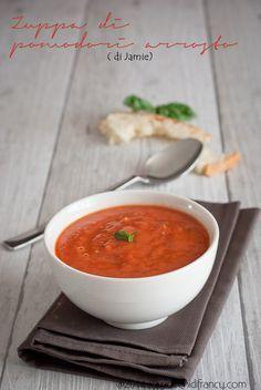 Roasted tomato soup-Zuppa di pomodori arrosto. Di Jamie