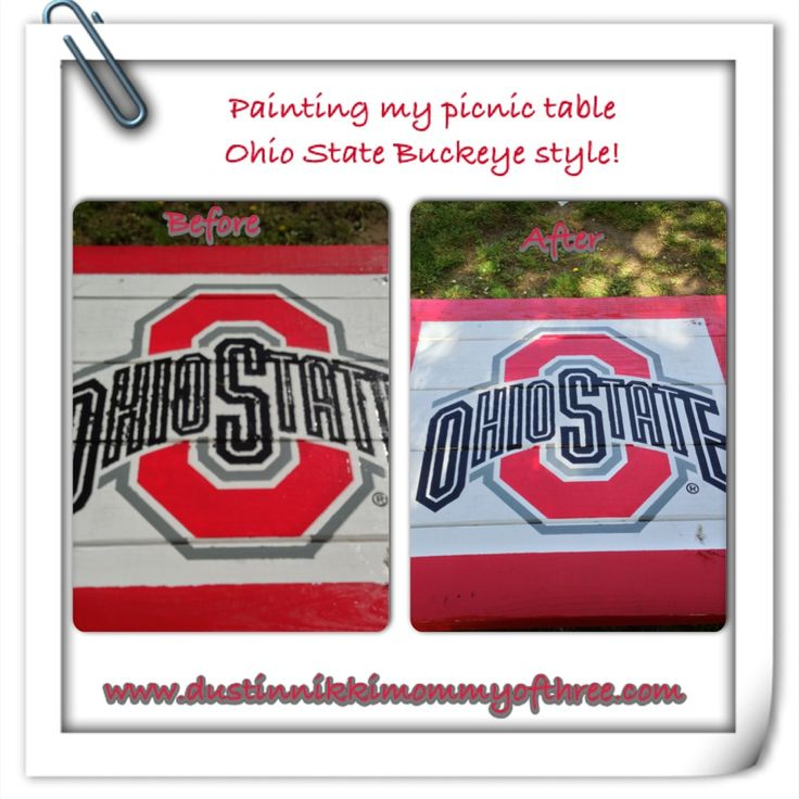 The 23 best images about ohio state on pinterest tree rings do it yourself ohio state buckeye picnic table diy buckeyes ohiostate solutioingenieria Choice Image