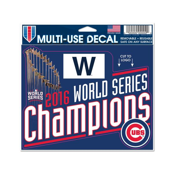 """Chicago Cubs 2016 World Series Champions 4"""" x 6"""" Multi-Use Decal  #ChicagoCubs #Cubs #FlyTheW #MLB #ThatsCub"""
