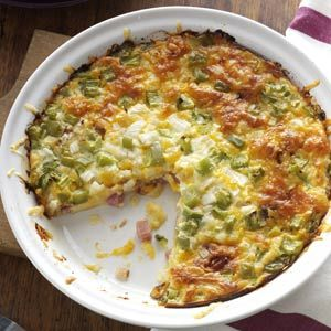 Ham 'n' Cheese Pie Recipe from Taste of Home