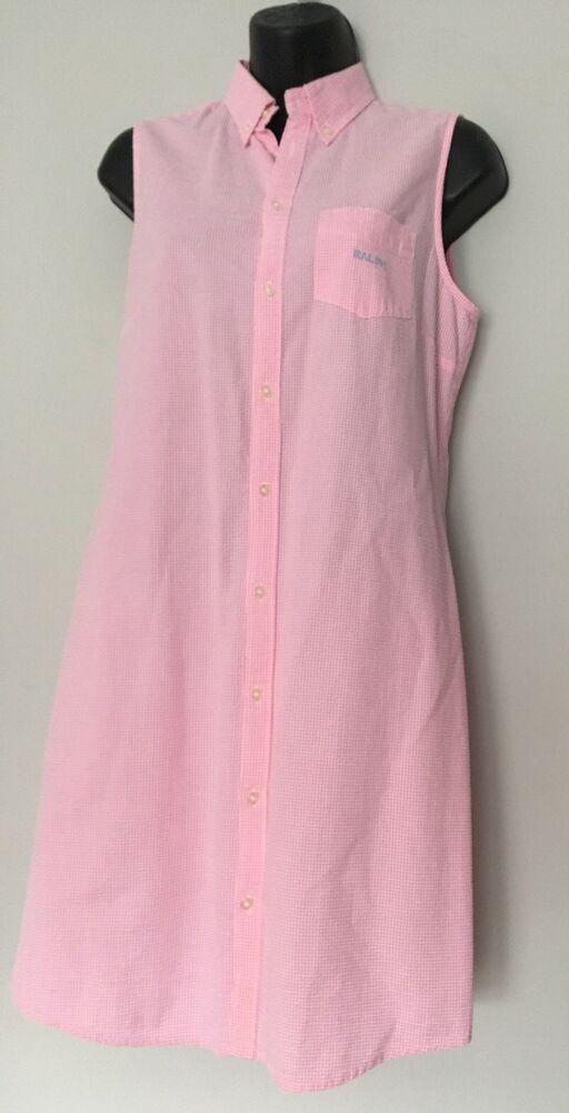 fc7ae1711f70f Ralph Lauren 90s Dress Medium Pink Sleeveless Seersucker Button Down Collar   RalphLauren  SheathDress  AnyOccasion