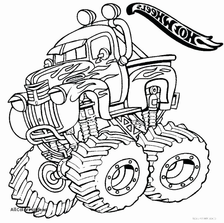 Monster Trucks Coloring Page Unique Monster Truck Coloring Pages