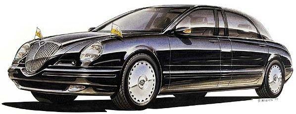 2000 LANCIA 841 GIUBILEO 3.0 V6 LIMOUSINE - Gifted to Pope John Paul ll for Catholic Church Great Jubilee (single example built). Rendering.