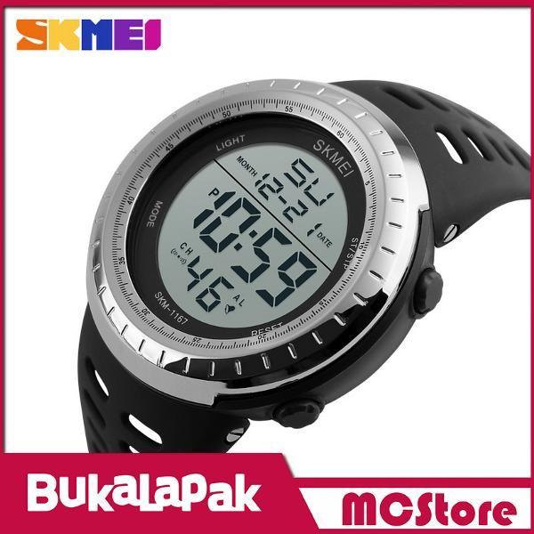 Beli MCStore Jam Tangan Pria SKMEI Sport Watch Silicone Strap Water Resistant 50m - 11671 - Black Silver dari MCStore habibwaldani - Jakarta Barat hanya di Bukalapak