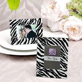 zebra pattern place card frame bulk discount