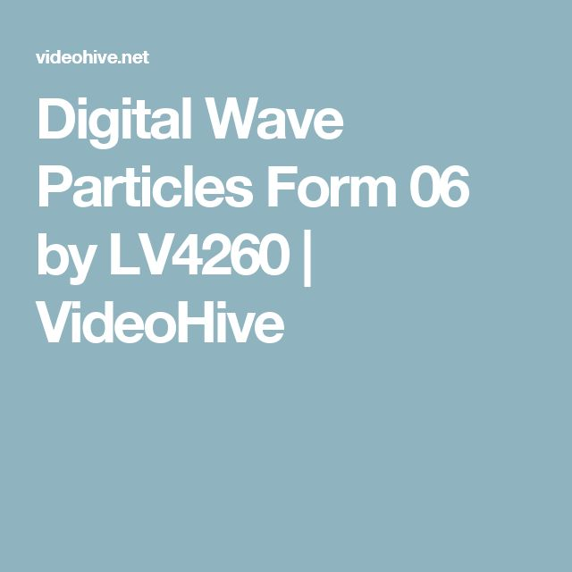 Digital Wave Particles Form 06 by LV4260 | VideoHive