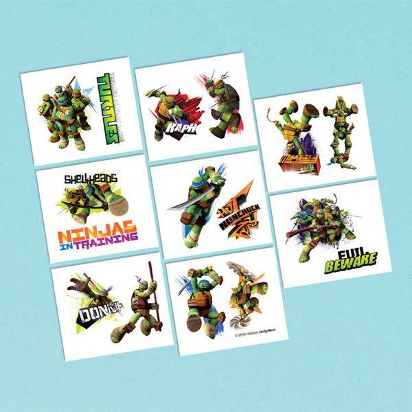 Teenage Mutant Ninja Turtles Temporary Tattoos | 16 ct