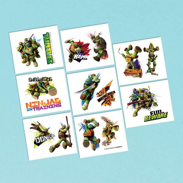 Teenage Mutant Ninja Turtles Temporary Tattoos   16 ct