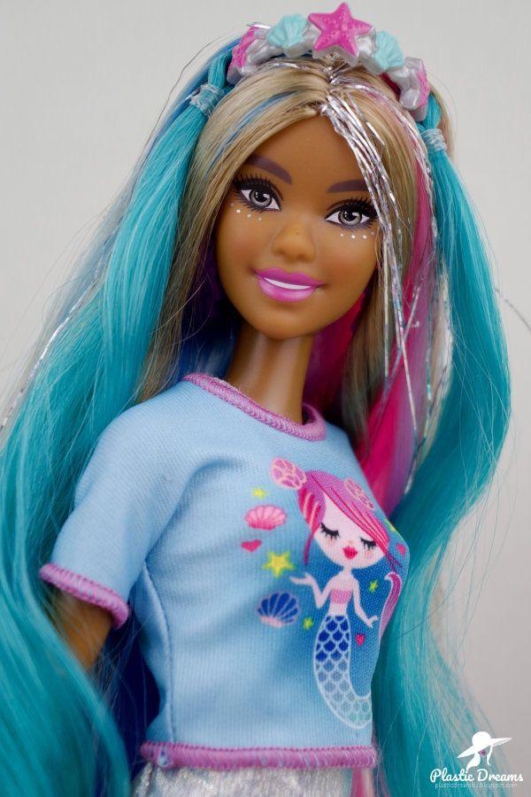 Fantasy Hair Barbie Doll Mermaid Coiffure Fantaisie Barbie Style Barbie