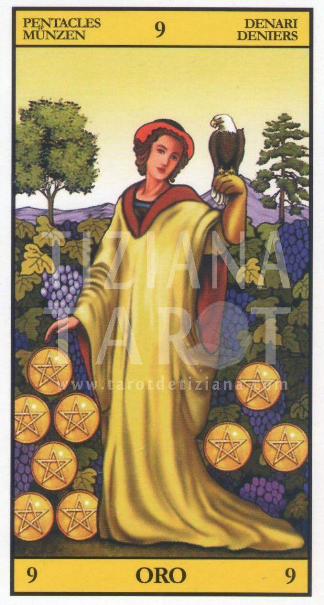 El 9 De Oros En El Tarot Tarot De Tiziana Tarot Cartas Del Tarot Tarot Arcanos