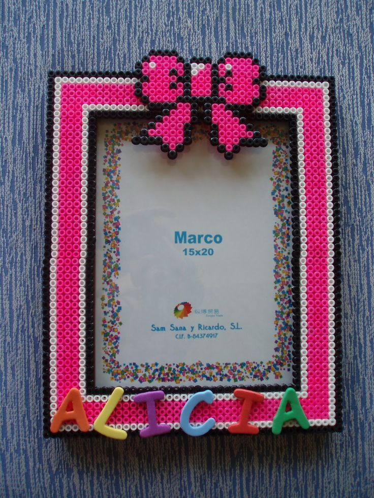 Photo frame hama beads by vanesuki2010 - pelillosuki ...