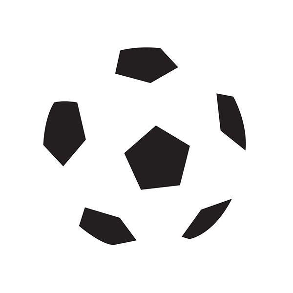 Closure: when looking at a complex arrangement of individual elements, humans tend to first look for a single, recognizable pattern. Here, we see a soccer ball rather than 6 random pentagons