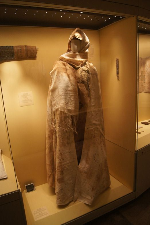 Hermitage.  Moshchevaya Balka.  hat, headscarf and half circle cloak.  North Caucasus. Adygo-Alanic culture. 8th-9th century.