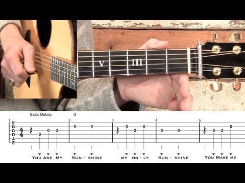 ▶ You Are My Sunshine- Guitar! - YouTube