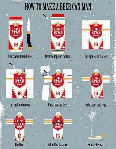 How To Make A Beer Can Man