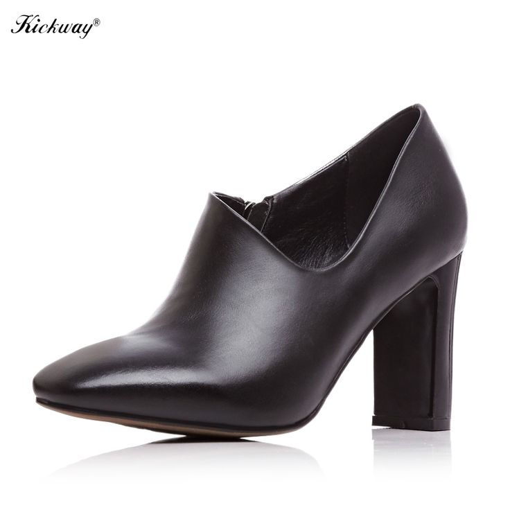 47.10$  Watch here - http://alivr0.shopchina.info/1/go.php?t=32706056103 - 2016 spring new collections thin high heel pumps Genuine leather ladies shoes square toe women's pumps zapatos mujer 158 47.10$ #magazineonlinebeautiful