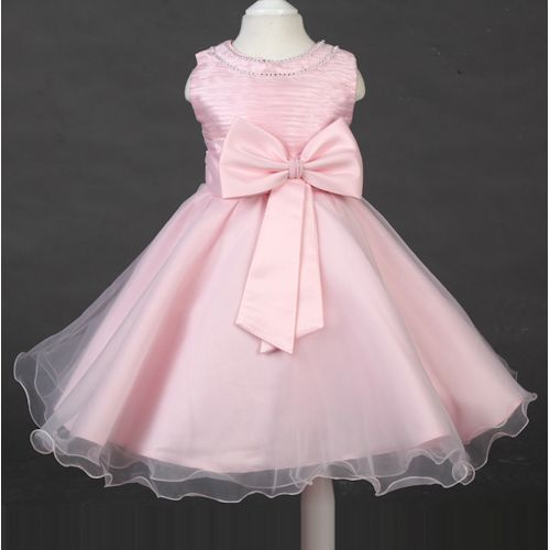 Pink Beaded Little Toddler Pageant Girl Girls Birthday Party Dresses SKU-10501303