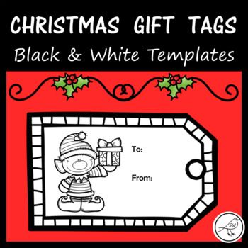 20 different gift tags for your students to colour and write on. Included: ♦ 20 black and white templates ♦ 20 black and white templates - without the words to and from ♦ blank template (students design their own) 4 tags per A4 page.