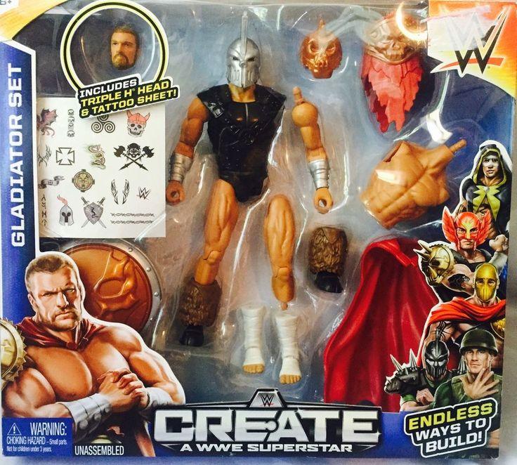 Create A WWE Superstar  Gladiator  Set New Sealed Triple H Head & Tatoos #Mattel