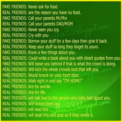 Pictures Of Fake Friends Real Friends List Kidskunstinfo
