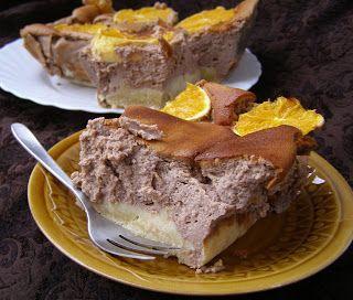 W Mojej Kuchni Lubię.. : pyszny kakaowy sernik z pomarańczami...