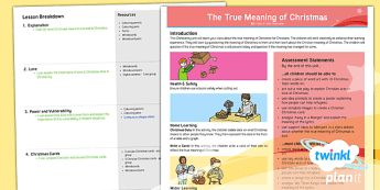 PlanIt Religion Year 5 The True Meaning of Christmas Planning Overview