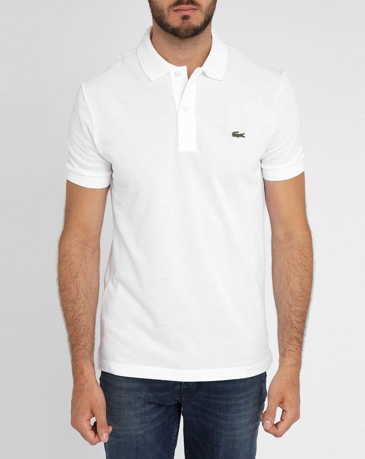 Polo manches courtes logo Lacoste blanc - LACOSTE - Polos manches courtes LACOSTE pour homme, LIVRAISON et Retour 30J GRATUIT - Menlook.com : + de 250 marques à découvrir