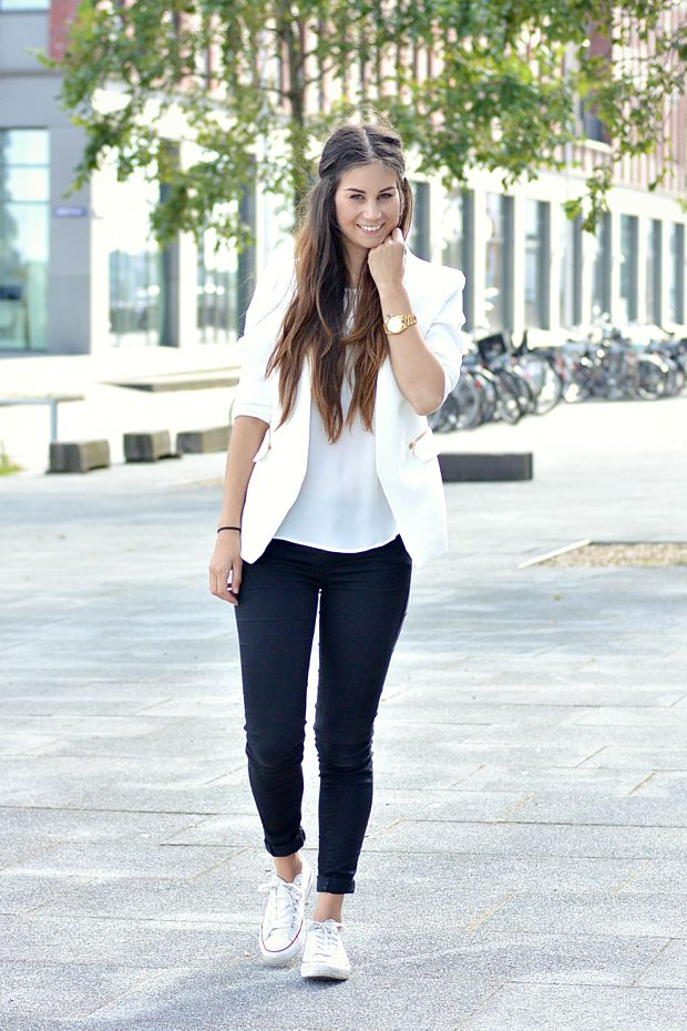 25 Best Ideas About White Converse Outfits On Pinterest