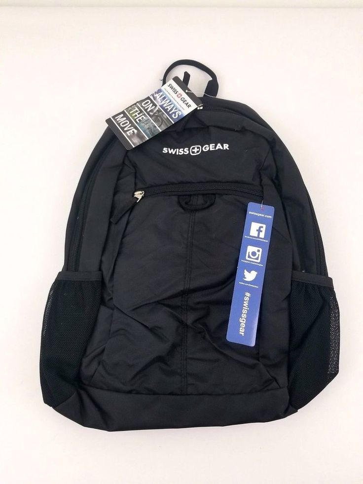 Swiss Gear Backpack Black  Padded Tablet Pocket NWT Student School Work  #SWISSGEAR #Backpack