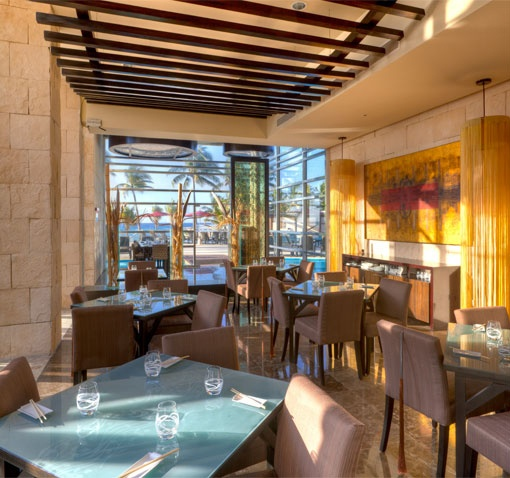 Azul Fives Hotel, by Karisma, Tsuki Restaurant with flavors from Thailand, Japan, China & the Pacific Rim. Also a Sushi Bar at this restaurant.