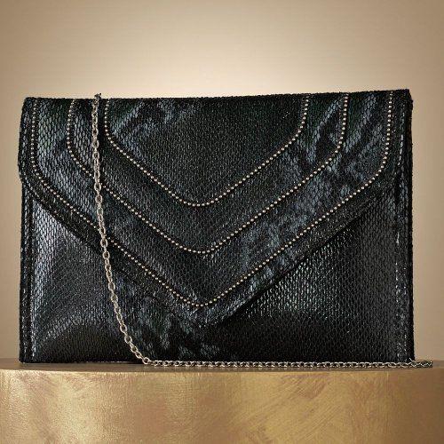 Jennifer Lopez Nina Snakeskin Envelope Clutch
