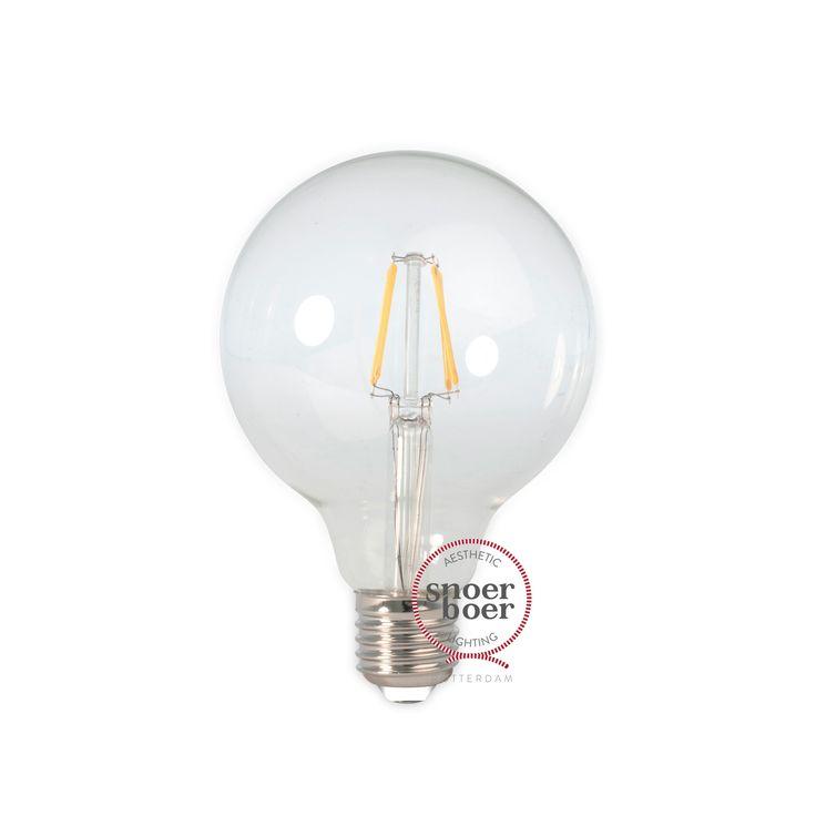 Calex LED kooldraadlamp globe E27 4W helder 95 mm