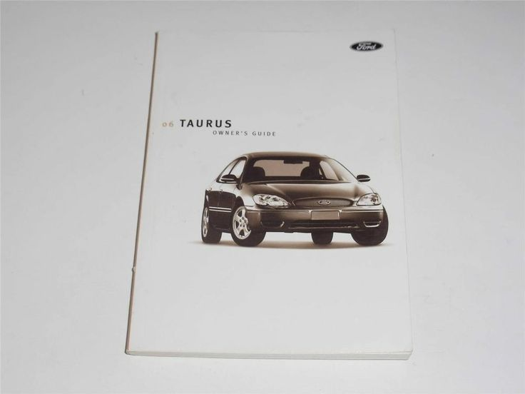 2006 Ford Taurus Owners Manual Book